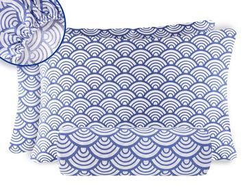 Sea Waves Pamuk Çift Kişilik Lastikli Çarşaf Takımı 160x200 Cm Mavi