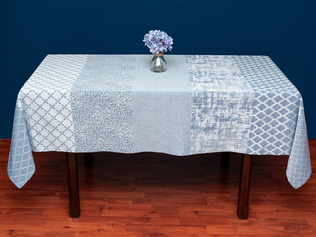 Shane Pamuklu Masa Örtüsü 150x200 Cm Koyu Mavi
