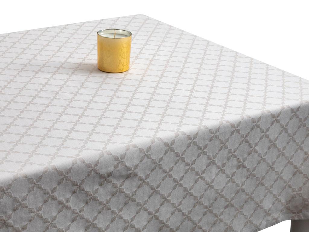 Parley Pamuklu Masa Örtüsü 150x200 Cm Taş Rengi