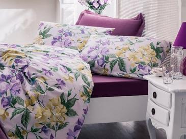 Iris Flower Pamuklu Çift Kişilik Nevresim 200x220 Cm Mor