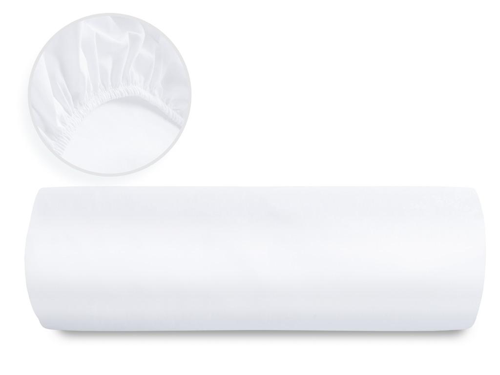 Düz 2 Pamuklu Tek Kişilik Lastıklı Çarşaf 100x200 Cm Beyaz