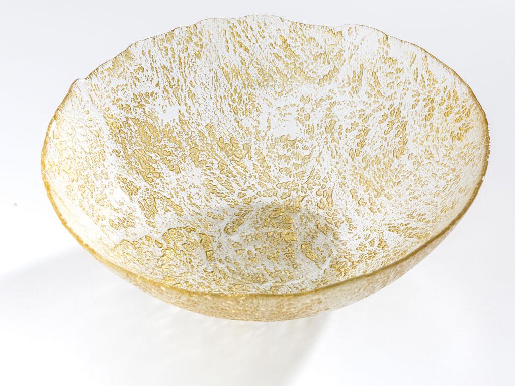 Carmen Dekoratıf Kase 30 Cm.. Gold