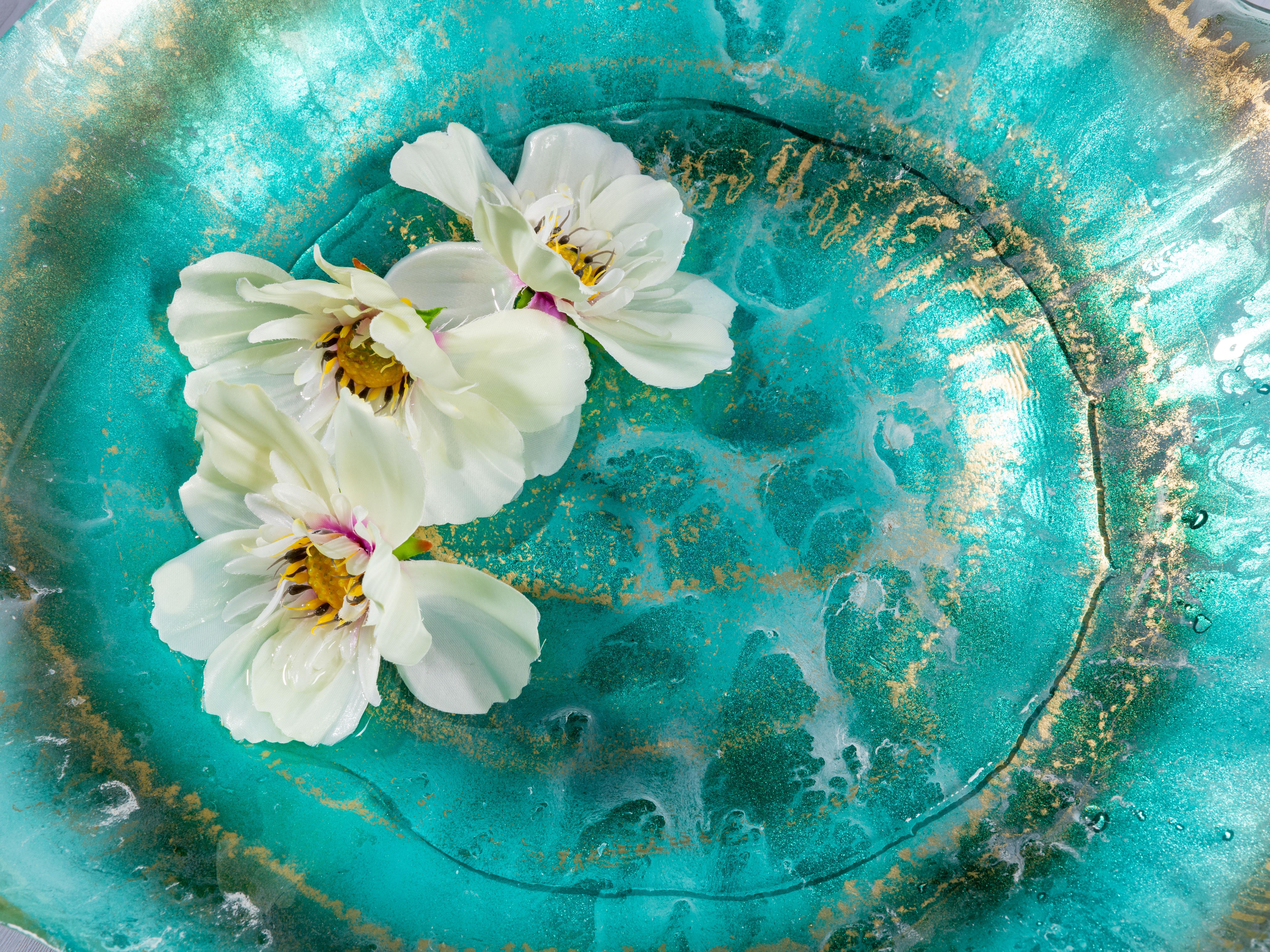 Lotus Dekoratıf Tabak 40 Cm Turkuaz