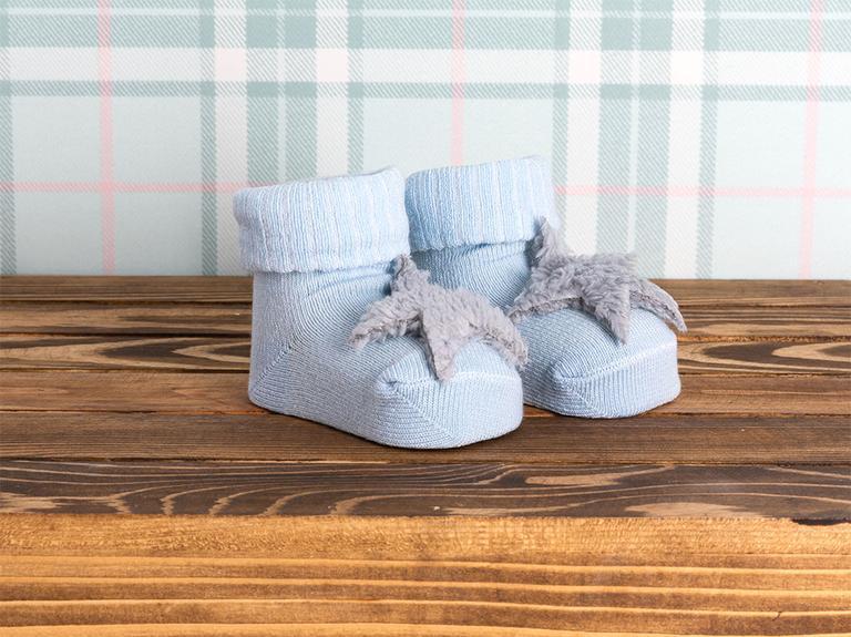 Bear Pamuk Bebe Çorap 0-3 Ay Mavi