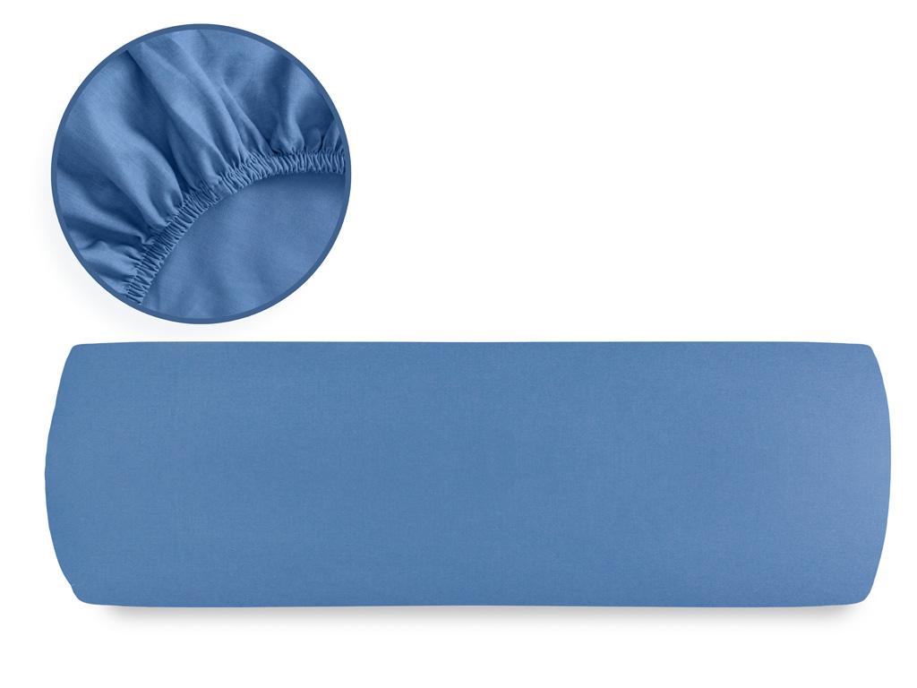 Düz Pamuklu Ara Ebat Lastıklı Çarşaf 140x200 Cm Derin Mavi