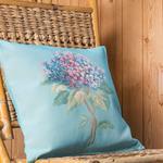 Hydrangea Goblen Kırlent 45x45 Cm Açık Mavi