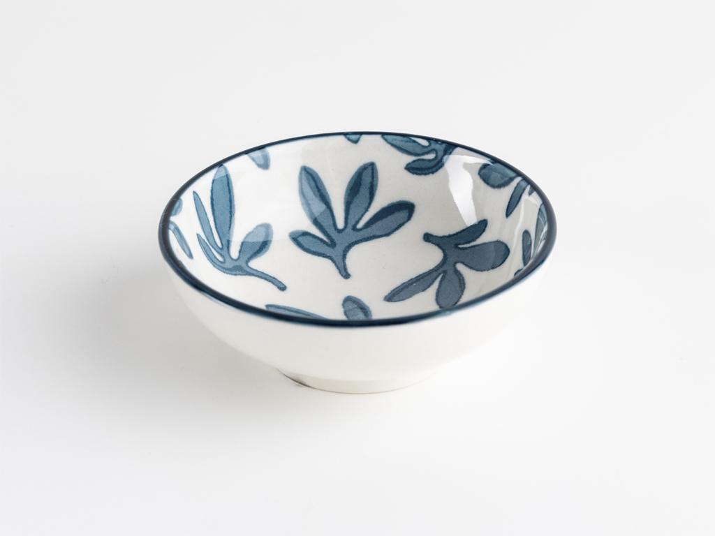 Halen Porselen Oval Çerezlık 8 Cm Mavi
