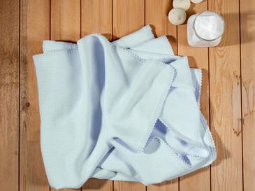 Softy Baskılı Kopanakili Bebe Örtü 100x150 Cm Mavi
