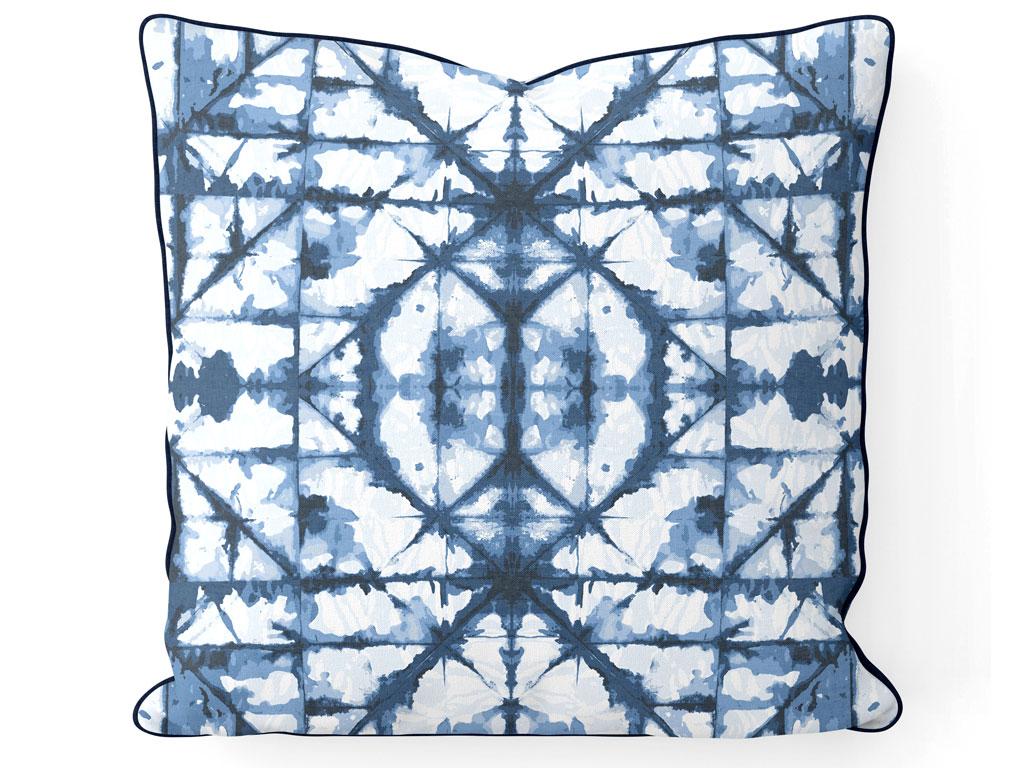 Sea Batik Çift Taraflı Kırlent Kılıfı 45x45 Cm Mavi