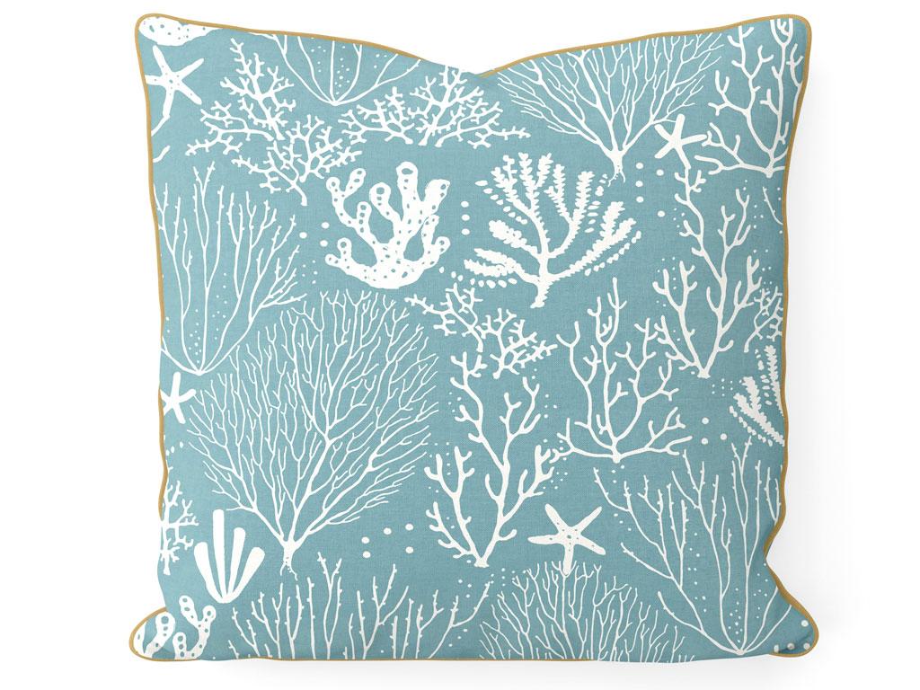 Corals Çift Taraflı Kırlent 45x45 Cm Seledon