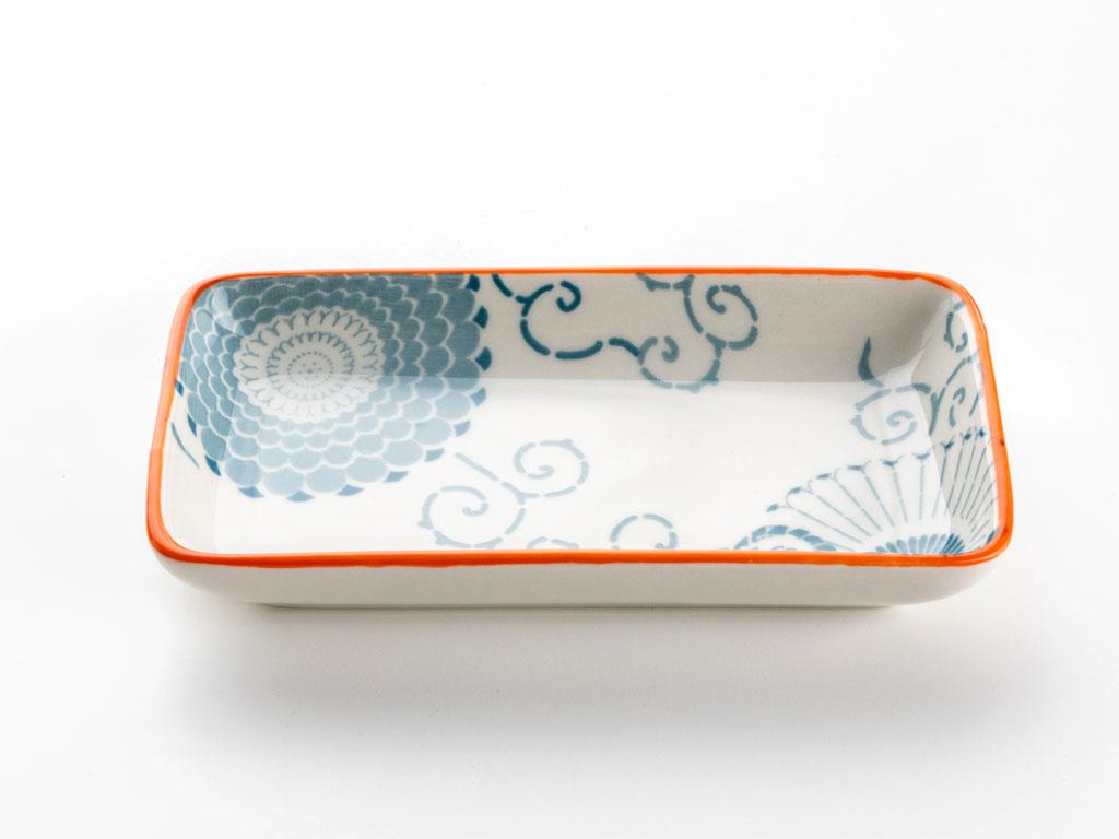 Julia Porselen Tekli Kayık Tabak 13 Cm Turuncu