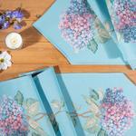 Hydrangea Goblen Runner 30x150 Cm Açık Mavi