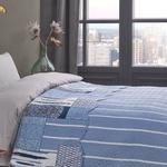 Mandala Patchwork Tek Kişilik Çok Amaçlı Örtü 160x220 Cm Mavi