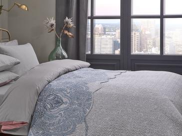 Urban Damask Tek Kişilik Çok Amaçlı Yatak Örtüsü 160x220 Cm Mavi