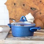Modest Granit Derin Tencere 20 Cm Mavi