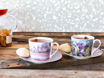 İris Porselen 2'li Çay Fincanı Takımı 200 Ml Mor - Lila