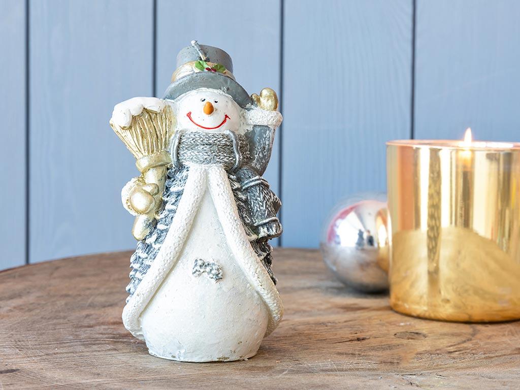 Snow Man Mum 7,8x7x13,5 Cm Beyaz