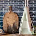 Modest Desenli Mutfak Önlüğü 55x75 Cm Mavi