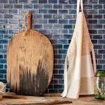 Modest Desenli Mutfak Önlüğü 55x75 Cm Bej