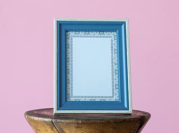 Wooden Çerçeve 13x18 Cm Mavi - Gri