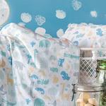 Baby Animals Pamuklu Bebe Nevresım Takımı 100x150 Cm Seledon