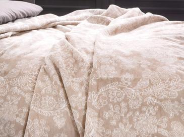 Modern Chic Pamuklu Tek Kişilik Battaniye 150x200 Cm Bej