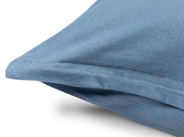 Düz Penye King Size Lastikli Çarşaf Takımı 180x200 Cm Mavi