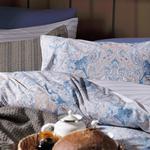 Paisley Charm Pamuklu Çift Kişilik Nevresim Seti 200x220 Cm Mavi