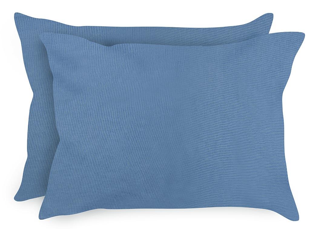 Düz Pamuklu 2'li Yastık Kılıfı 50x70 Cm Urban Mavi