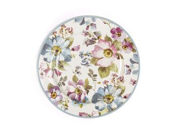 Floral Porselen Pasta Tabağı 15 Cm Renkli