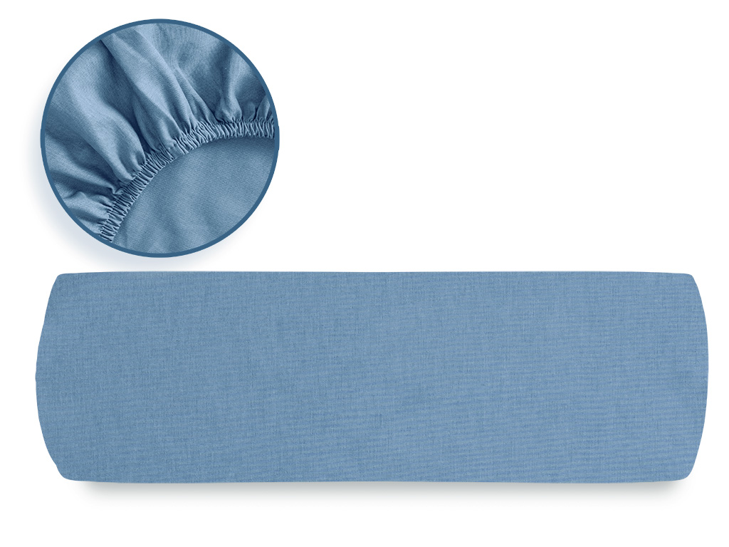 Plain Cotton Fitted Bed Sheet 180x200 Cm Urban Blue
