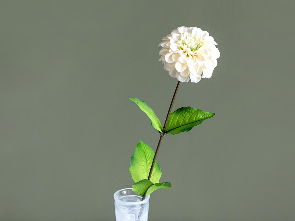 Gerbera Flower Yapay Çiçek 66 Cm Krem