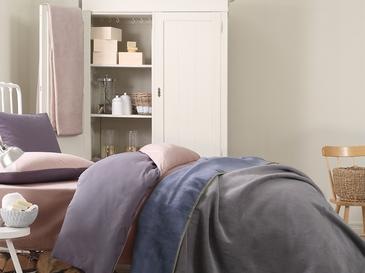 Softy Düz Çift Kişilik Battaniye 200x220 Cm Mavi - Gri