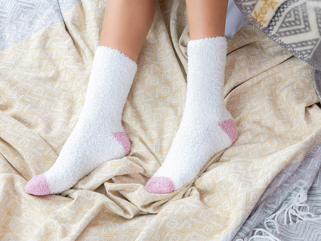 Plain Polyester Bayan 2'li Çorap 36-38 Ekru