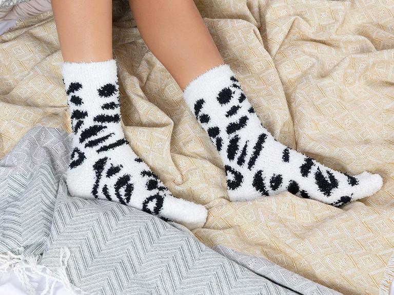 Safarı Peluş Kadın 2'li Çorap 36-38 Ekru