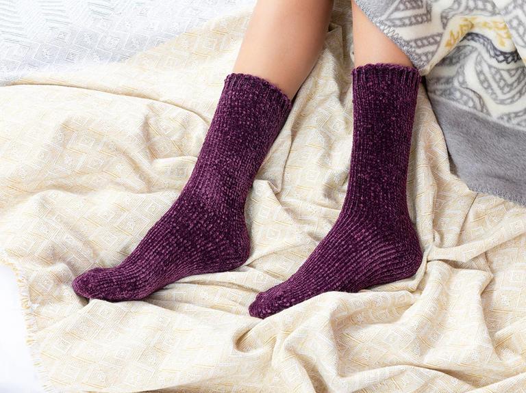 Velvet Kadife Kadın Çorap 39-41 Mürdüm