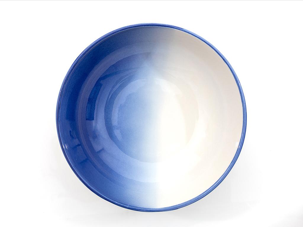 Sidra Porselen Kase 19 Cm  Beyaz - Mavi
