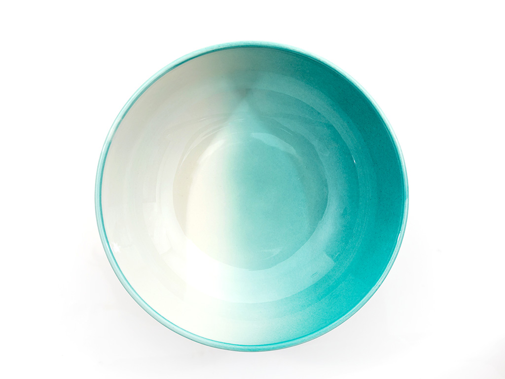 Sidra Porselen Kase 19 Cm.. Beyaz - Yeşil