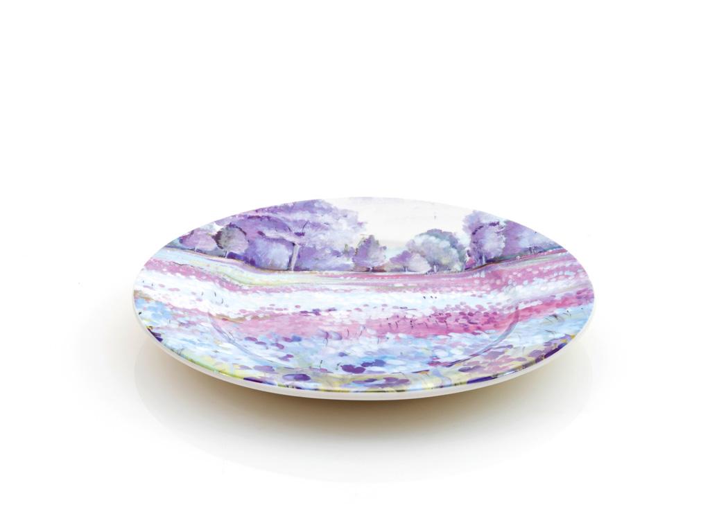 İris Porselen Pasta Tabağı 20 Cm Mor - Lila