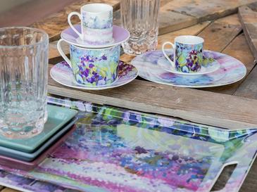 İris Porselen 2'li Kahve Fincan Takımı 80 Ml Mor - Lila