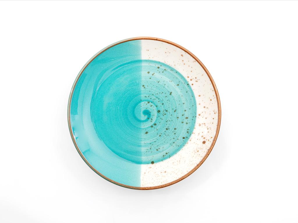 Natura Porselen Pasta Tabağı 15 Cm Mavi