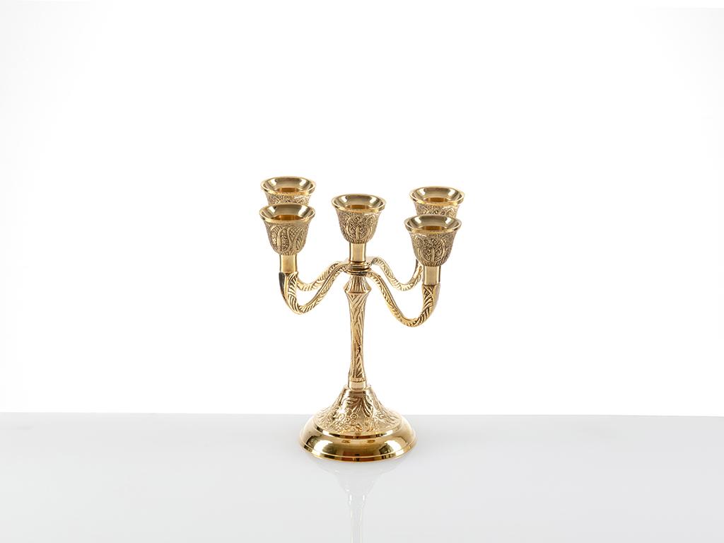 Harmony Şamdan 7,5x7,5x16,5 Cm Gold