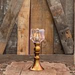 Rustic Şamdan 7,5x7,5x19,5 Cm Gold