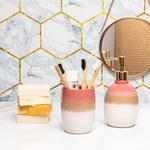 Soft Bath 2'li Banyo Seti 9,1x9,1x18,1cm 8,5x8,5x11cm Pembe