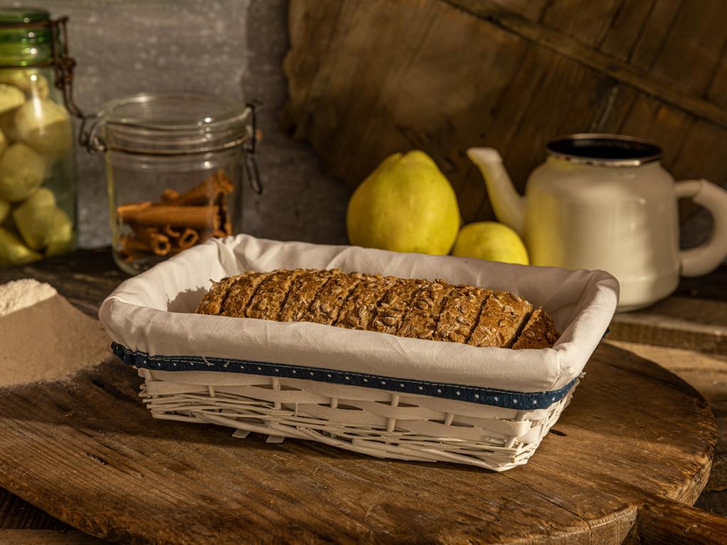 Urban Hasır Dikdörtgen Ekmek Sepetı 28x18x9 Cm Bej