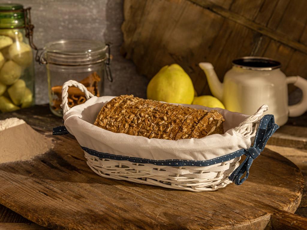 Urban Folk Hasır Oval Ekmek Sepetı 28x18x9 Cm Bej