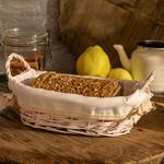 Urban Folk Hasır Oval Ekmek Sepetı 28x18x9 Cm Pembe
