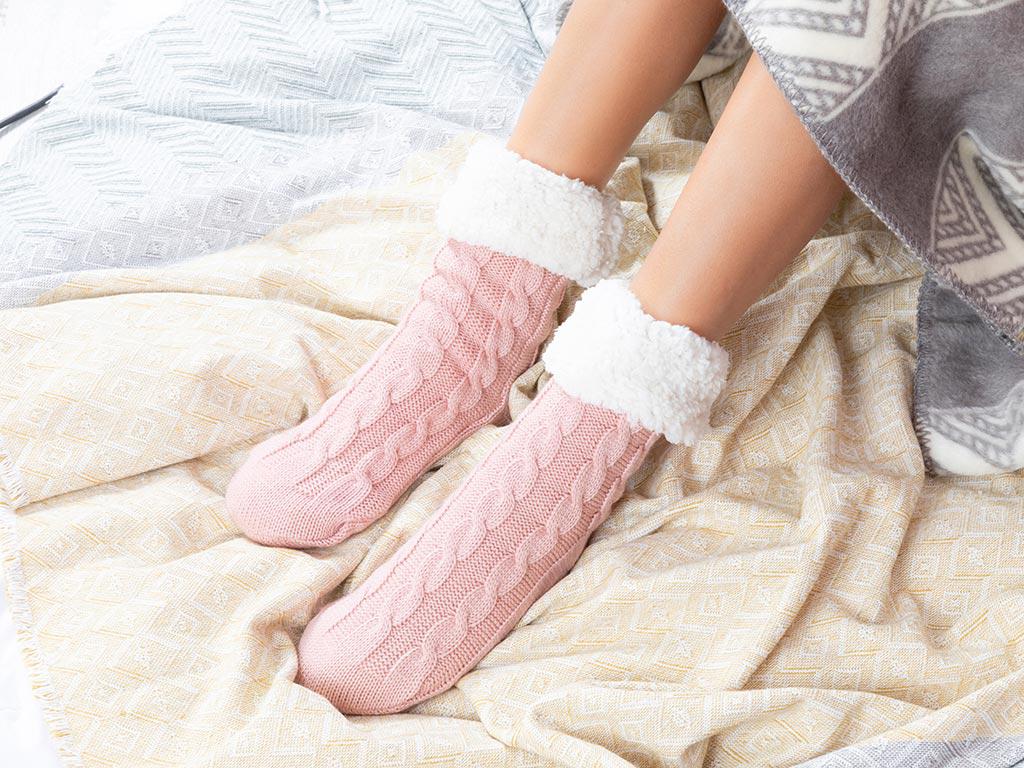 Softy Triko Bayan Çorap 36-38 Pembe