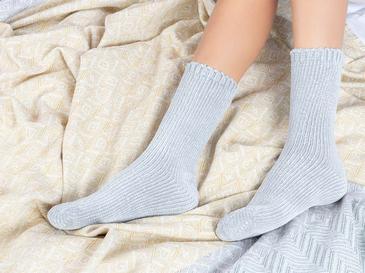 Velvet Kadife Kadın Çorap 36-38 Gri