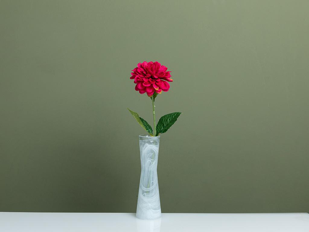 Dahlia Yapay Çiçek 53 Cm Gül Kurusu